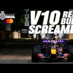 Pierre Gasly takes screaming V10 Red Bull RB-1 up Goodwood Hill