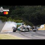 Lewis Hamilton shreds Mercedes F1 tyres at Goodwood