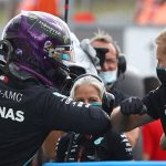 Lewis Hamilton sets new track record to claim his 90th career pole position from his Mercedes team-mate Valterri Bottas for tomorrow's Hungarian Grand Prix