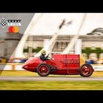 Ride onboard the almighty Fiat S76 as it splutters up Goodwood hill
