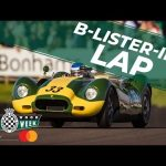 Masterfully sliding a V8 Lister Knobbly to fastest lap