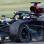 Lewis Hamilton's dangerous blow-out on his way to British Grand Prix victory on three wheels was NOT caused by debris on Silverstone track but due to 'extremely long use', say Pirelli