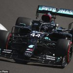 Lewis Hamilton finishes the 70th Anniversary Grand Prix practice sessions as the fastest driver ahead of Mercedes team-mate Valtteri Bottas