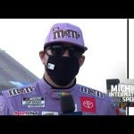 Kyle Busch on Kevin Harvick battle: 'Didn't get loose and turn up to the wall by myself' | NASCAR