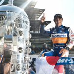 Sato celebrates second '500' win with family here and there
