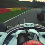 'F***, there was nowhere else I could go guys': George Russell fortunate to emerge unscathed after nasty Antonio Giovinazzi crash at Spa with the Italian's TYRE flying off and hitting his Williams rival