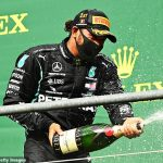 'Both drivers aren't there like me and Valtteri': Bullish Lewis Hamilton insists he wants 'more of a fight' after cruising to Belgian GP win and admits Max Verstappen needs help from Red Bull team-mate Alex Albon