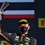 'Thanks for sticking with me': British born Thai driver Alex Albon thanks Red Bull team for believing in him as he takes his first ever podium at the Tuscan Grand Prix following a frustrating start to his 2020 season