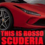 Ferrari red colours: Rosso Scuderia