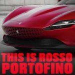 Ferrari red colours: Rosso Portofino