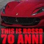 Ferrari red colours: Rosso 70 anni