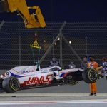 Nikita Mazepin suffers nightmare F1 debut as he crashes after just THREE CORNERS of first lap following qualifying hell