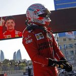 Charles Leclerc takes pole position for the Azerbaijan Grand Prix after crazy qualifying session was stopped early following multiple crashes... with Lewis Hamilton second and Max Verstappen third
