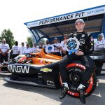 O'Ward Sticks Top Lap To Win NTT P1 Award for Detroit Race 1
