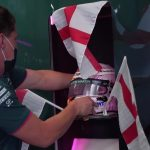 Watch Aston Martin decorate F1 base with England flags as team taunt Sebastian Vettel after win over Germany