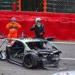 Brit driver Jack Aitken rushed to hospital after horror high speed crash left car in tatters at Spa 24 Hour race