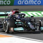Lewis Hamilton goes fastest in first practice for the Dutch GP but session is severely disrupted as 35 minutes are lost to help recover Sebastian Vettel's stricken Aston Martin... with the German forced to grab an extinguisher to put out a fire on his car!