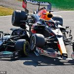 Lewis Hamilton and Max Verstappen are battling for the F1 world title but keep colliding on the track - their crash at the Italian GP was their SECOND this season and only adds to the bad blood that is akin to the Senna-Prost rivalry