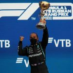 Lewis Hamilton claims 100th F1 victory in Russia as Lando Norris skids off track