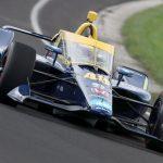 Johnson, Grosjean Enjoy First Drive in Fast Lane on IMS Oval