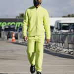 Lewis Hamilton arrives at Turkish Grand Prix in lime green tracksuit as he gets set to face Max Verstappen for F1 battle
